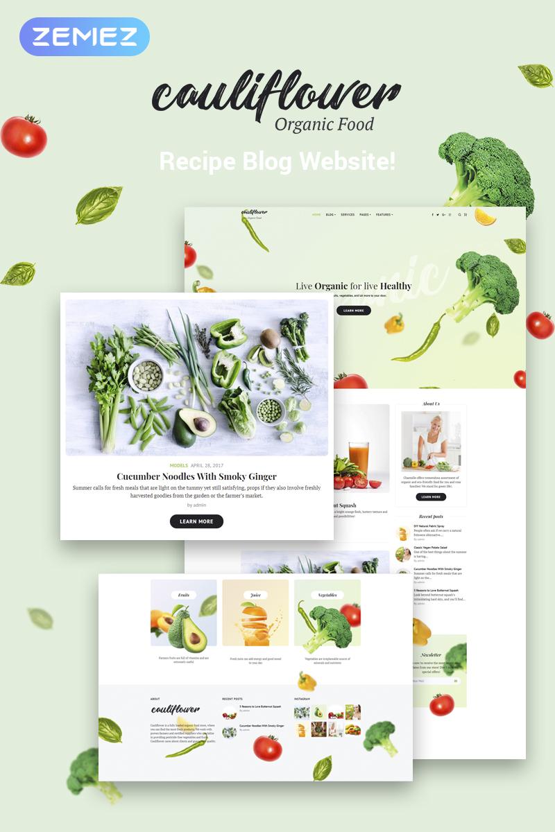 Reszponzív Cauliflower - Organic Food Blog Elementor WordPress sablon 71935 - képernyőkép