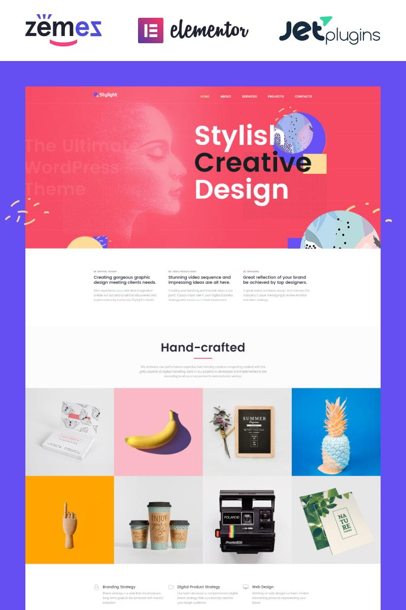 """Stylight- Creative Minimal Elementor"" thème WordPress adaptatif #71934 - screenshot"