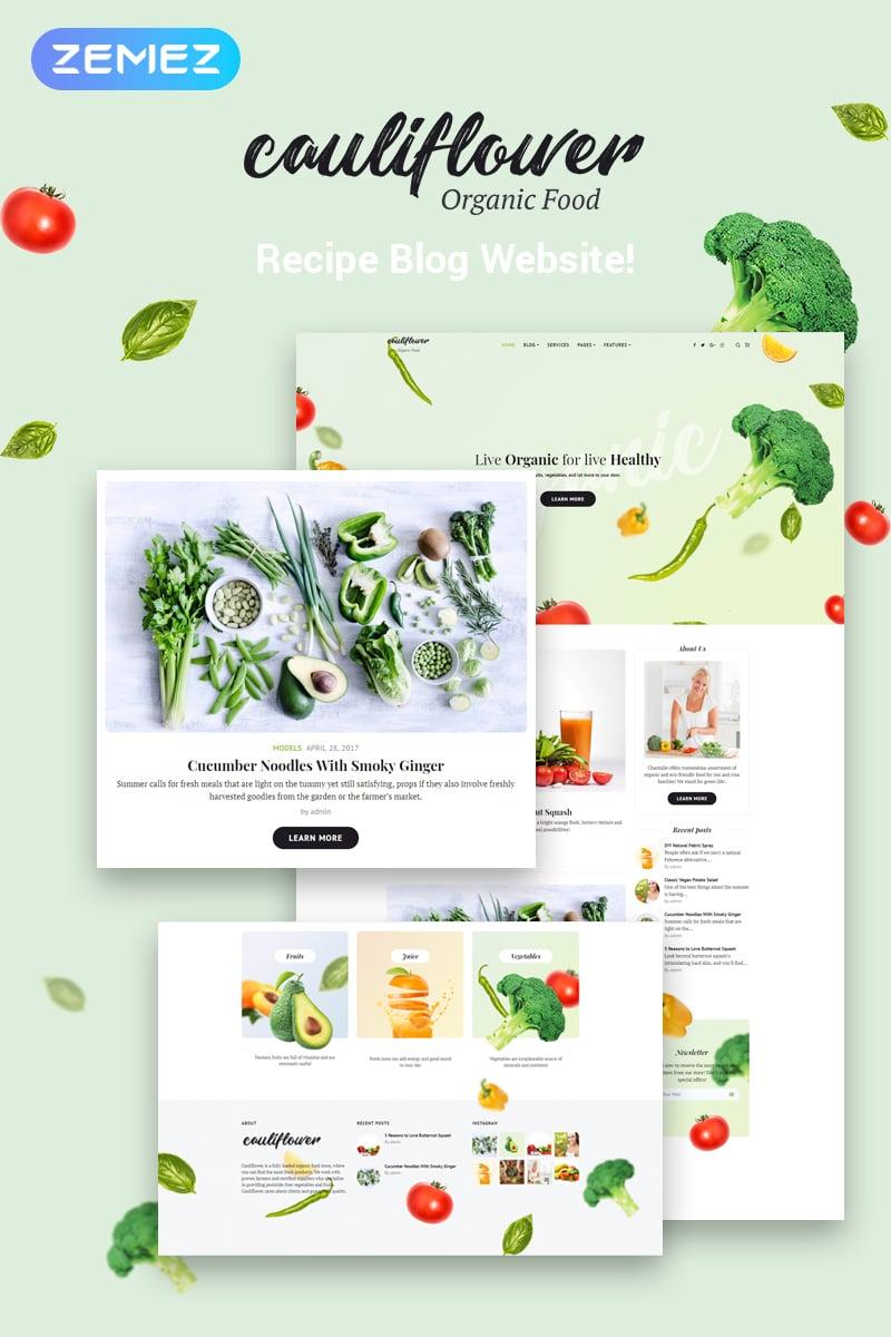 "Tema De WordPress ""Cauliflower - Organic Food Blog Elementor"" #71935 - captura de pantalla"