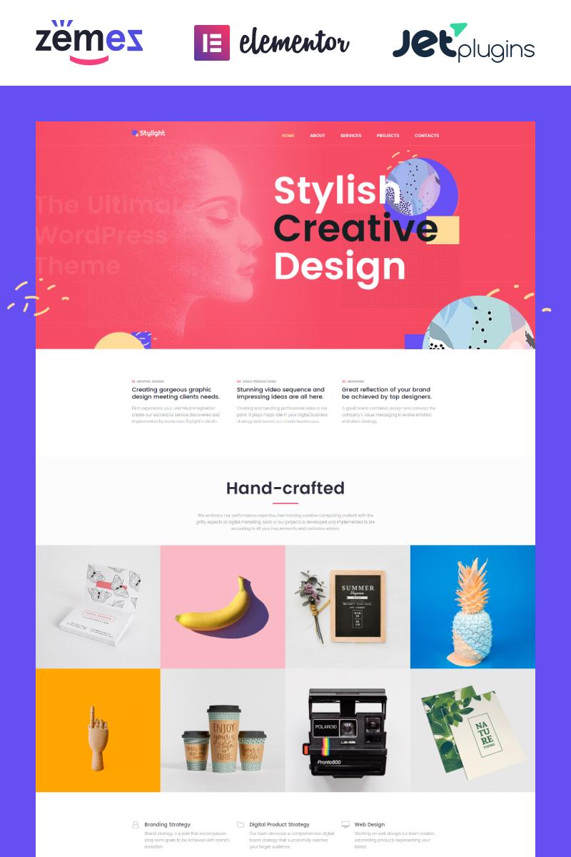 "Tema WordPress Responsive #71934 ""Stylight- Creative Minimal Elementor"" - screenshot"