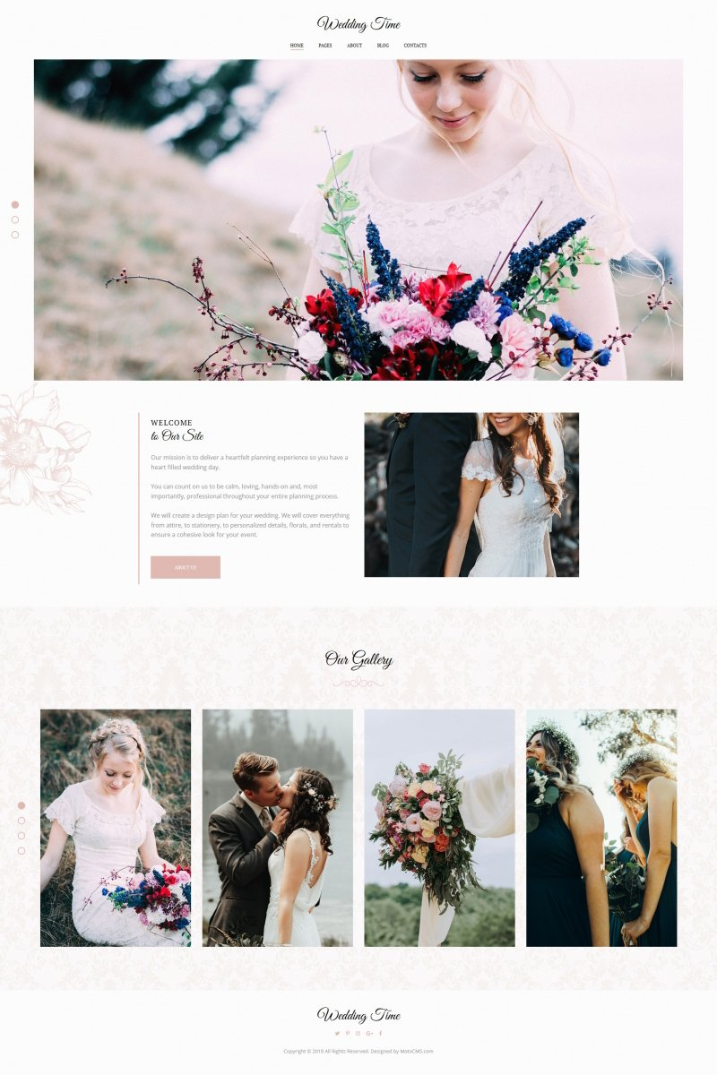 """Wedding Time"" Responsive Foto Galerij Template №71918"