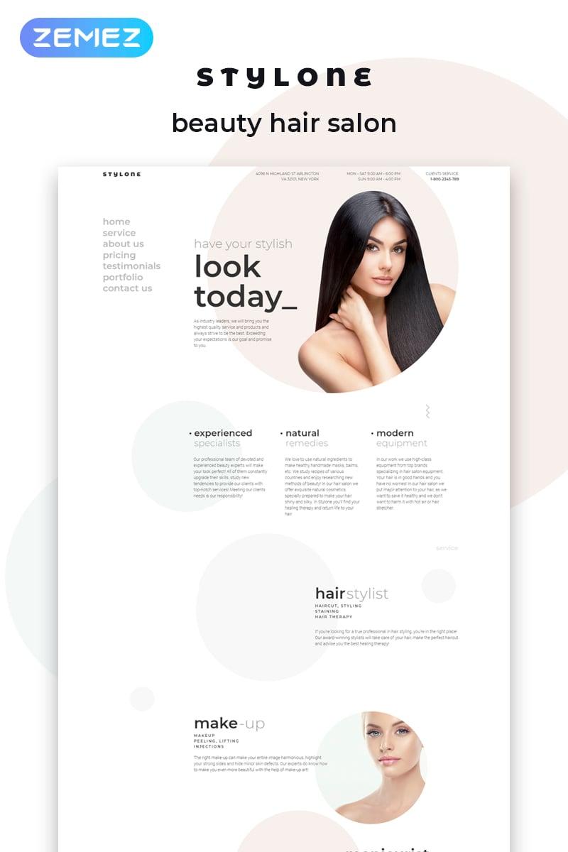 Website Template 72037 Beauty Salon Hair Custom Website