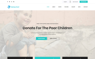 HelpingHand - Charity & Donation HTML5 Template Landing Page Template