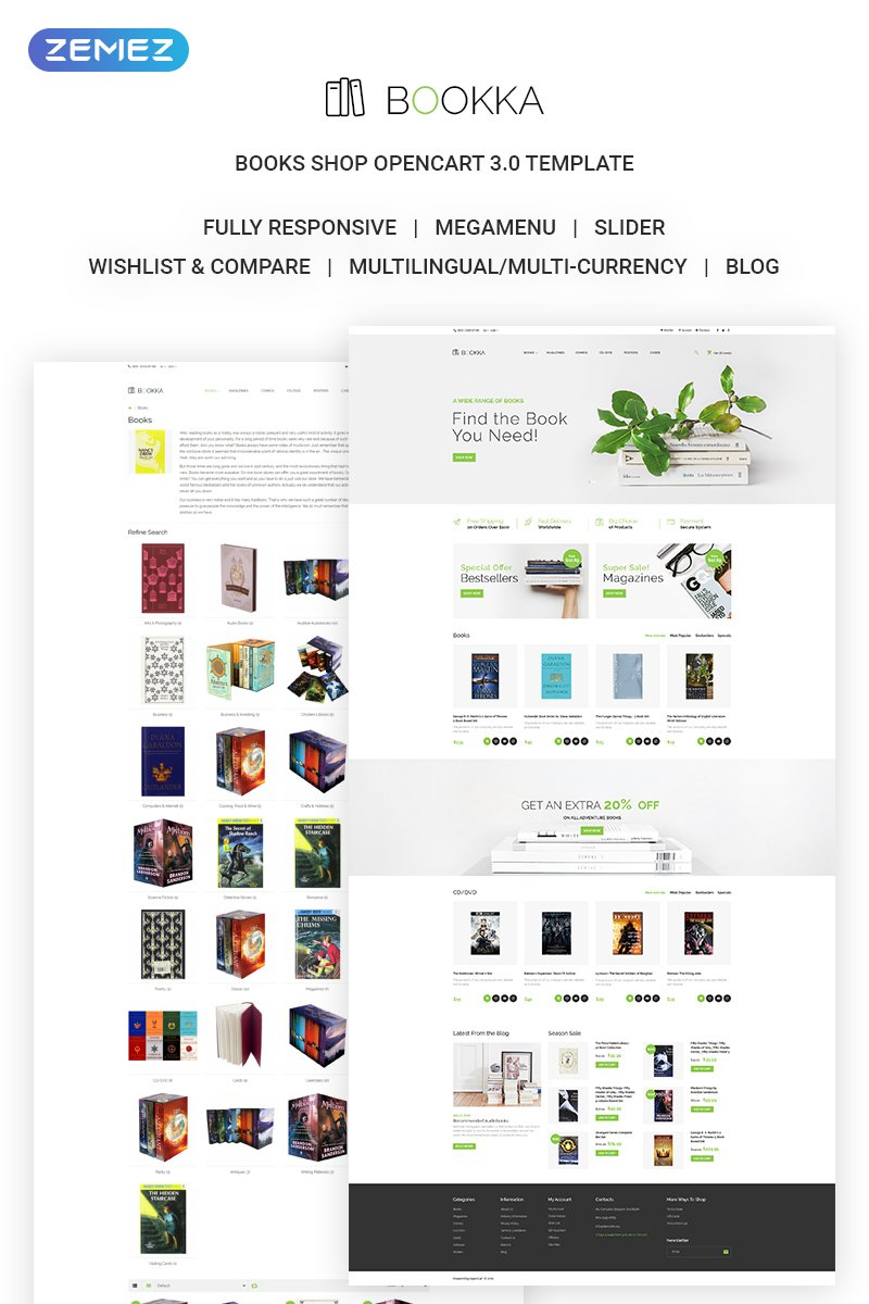 BOOKKA - Books Shop OpenCart Template