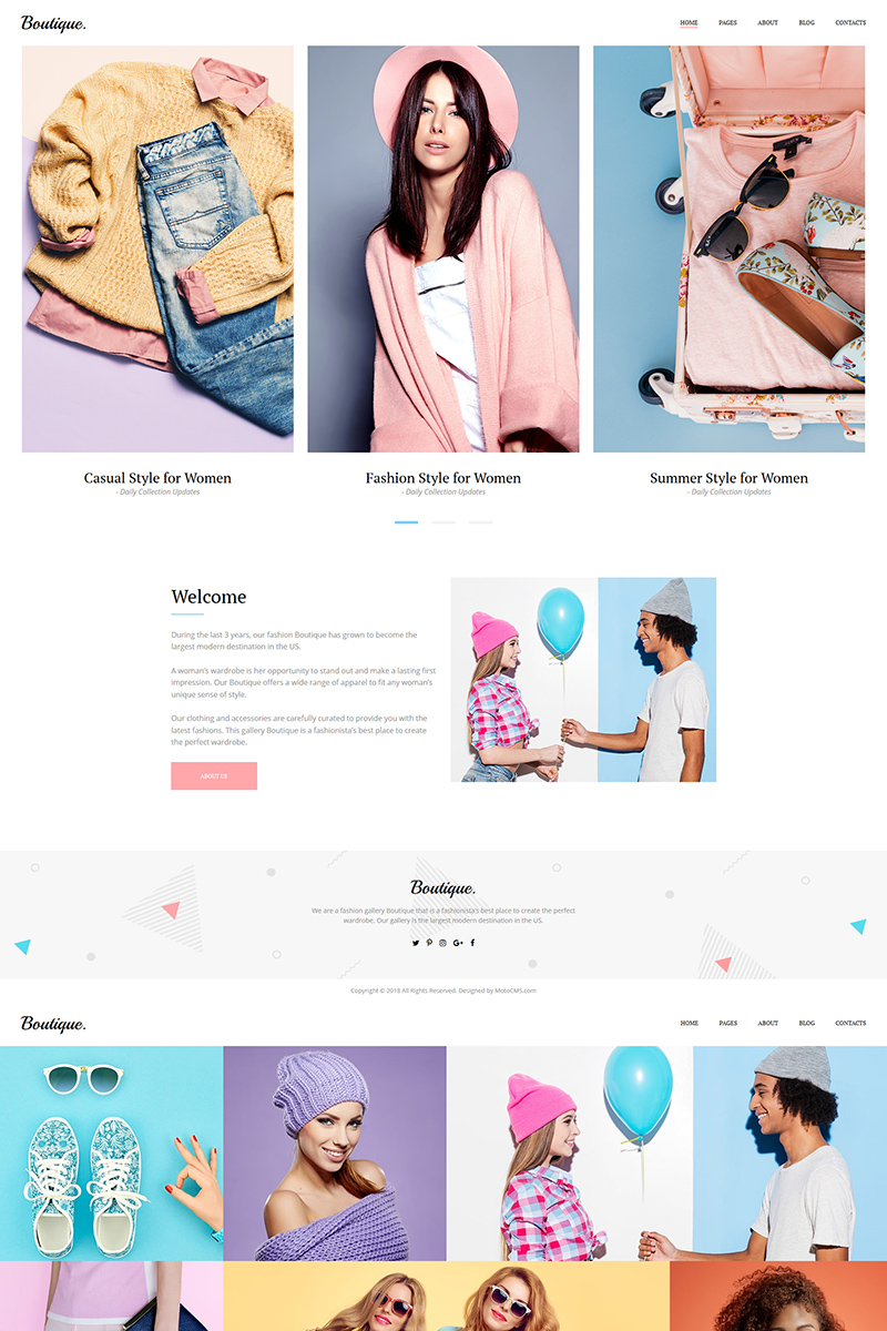 """Boutique - Fashion"" 响应式照片库模板 #72050"
