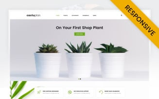Cactuplan Plant Store OpenCart Template