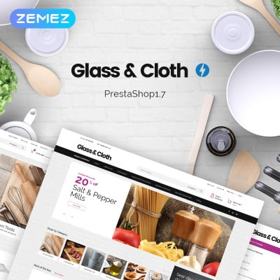 Glass and Cloth - Dishes Store PrestaShop Theme #72024
