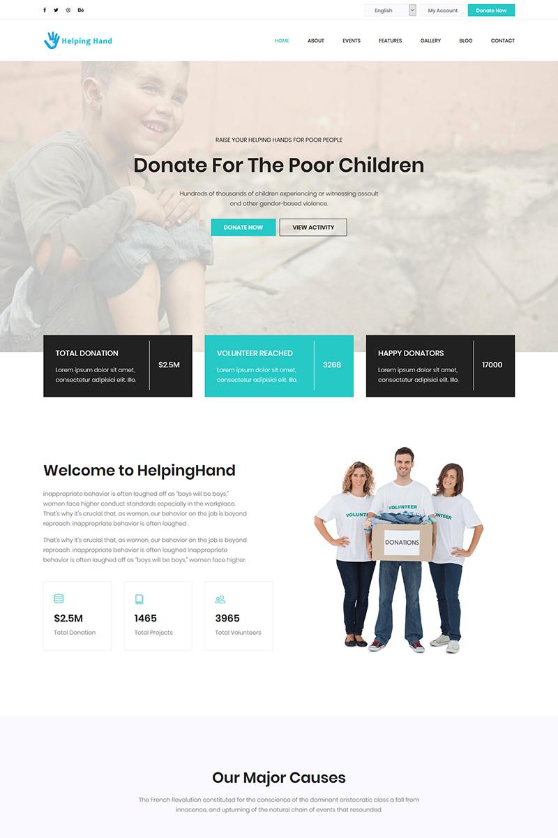 """HelpingHand - Charity & Donation HTML5 Template"" Landingspagina Template №72051"