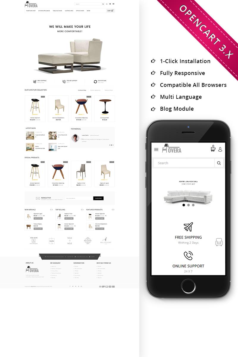 Hovera Furniture Responsive Store OpenCart Template - screenshot