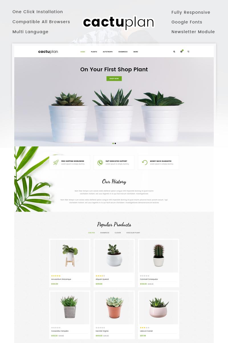 Responsywny szablon OpenCart Cactuplan Plant Store #72055
