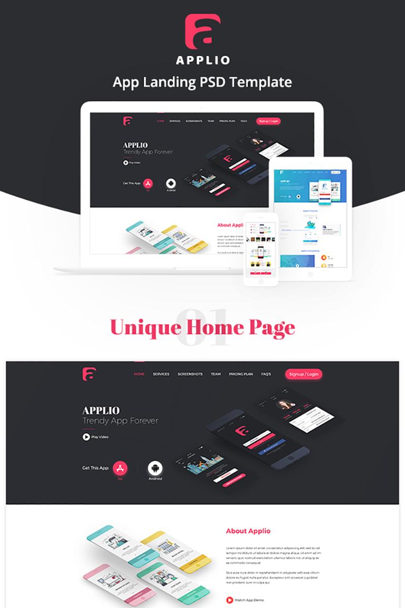 Szablon Landing Page Applio - App #72036