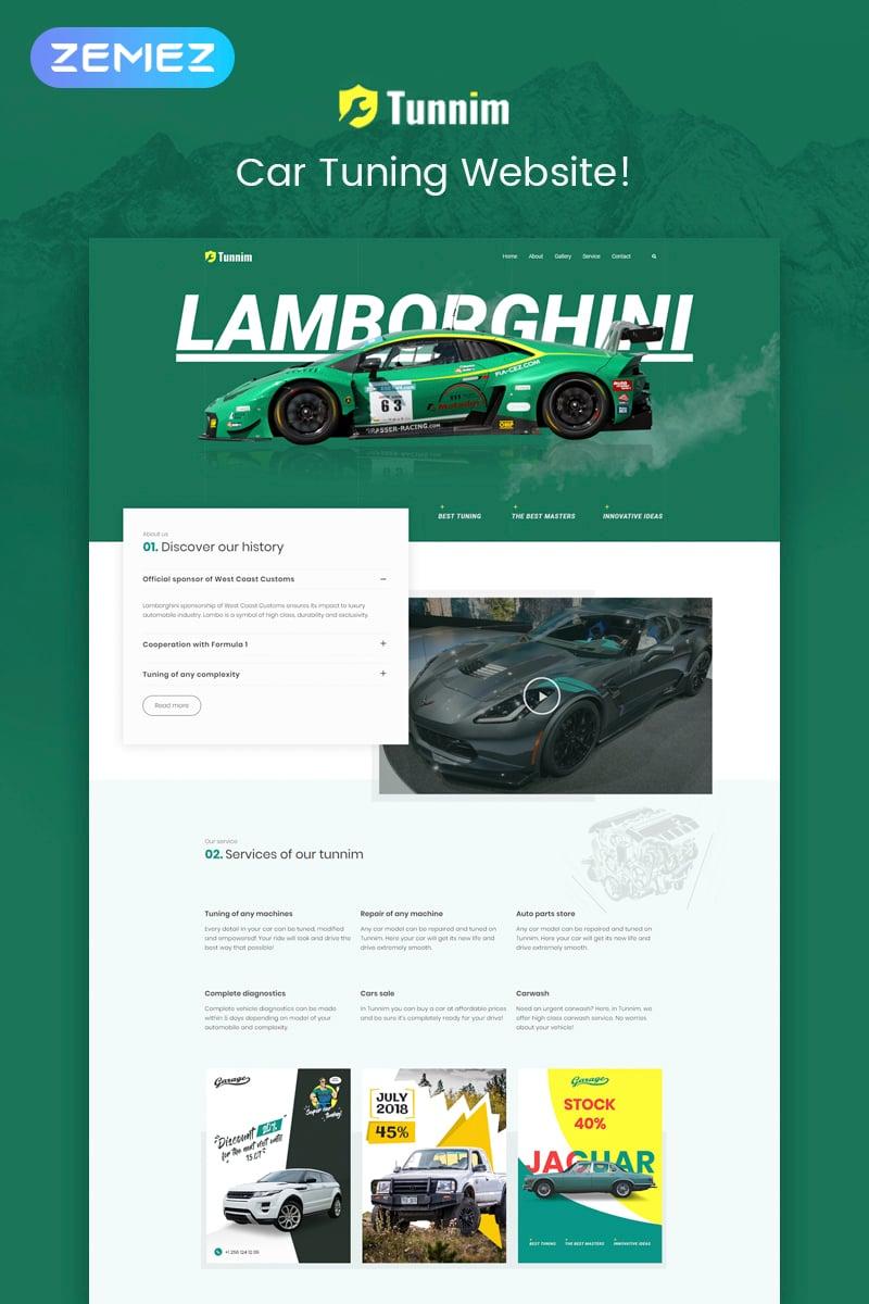 "Tema De WordPress ""Tunnim - Car Tuning Elementor"" #72090"