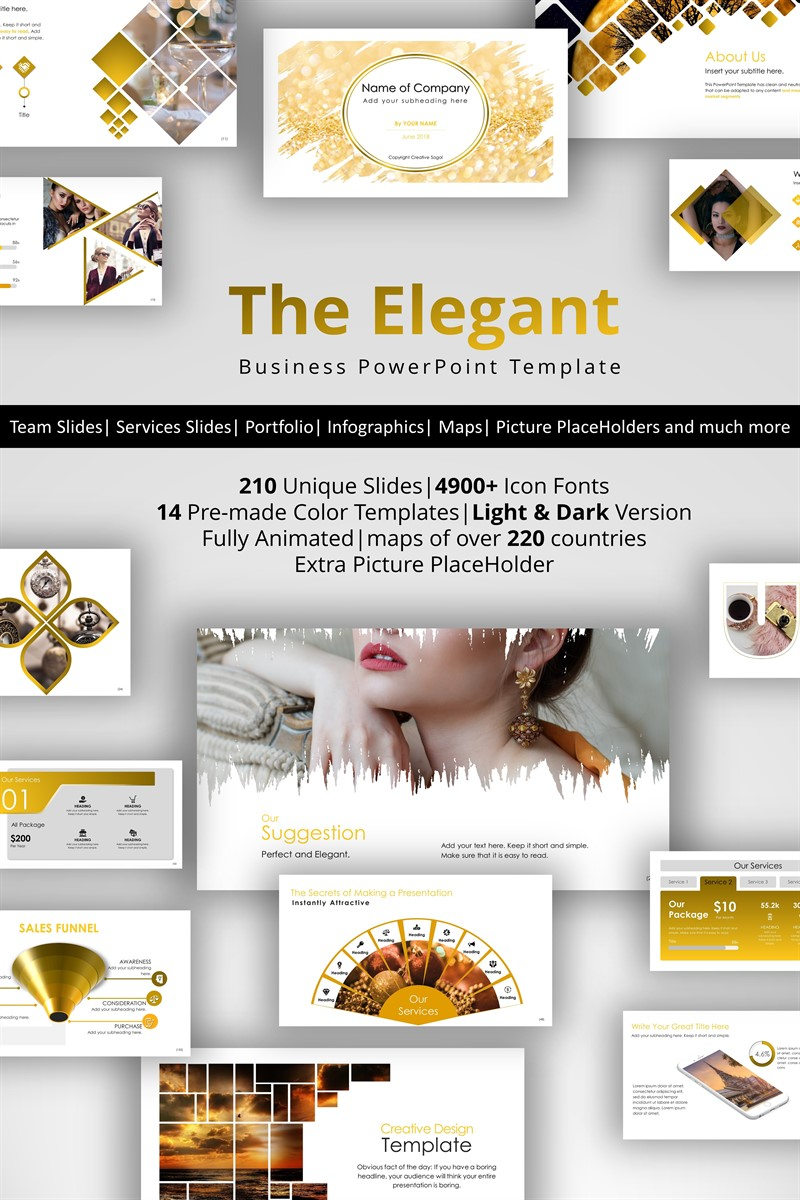 The Elegant PowerPoint Template #72012