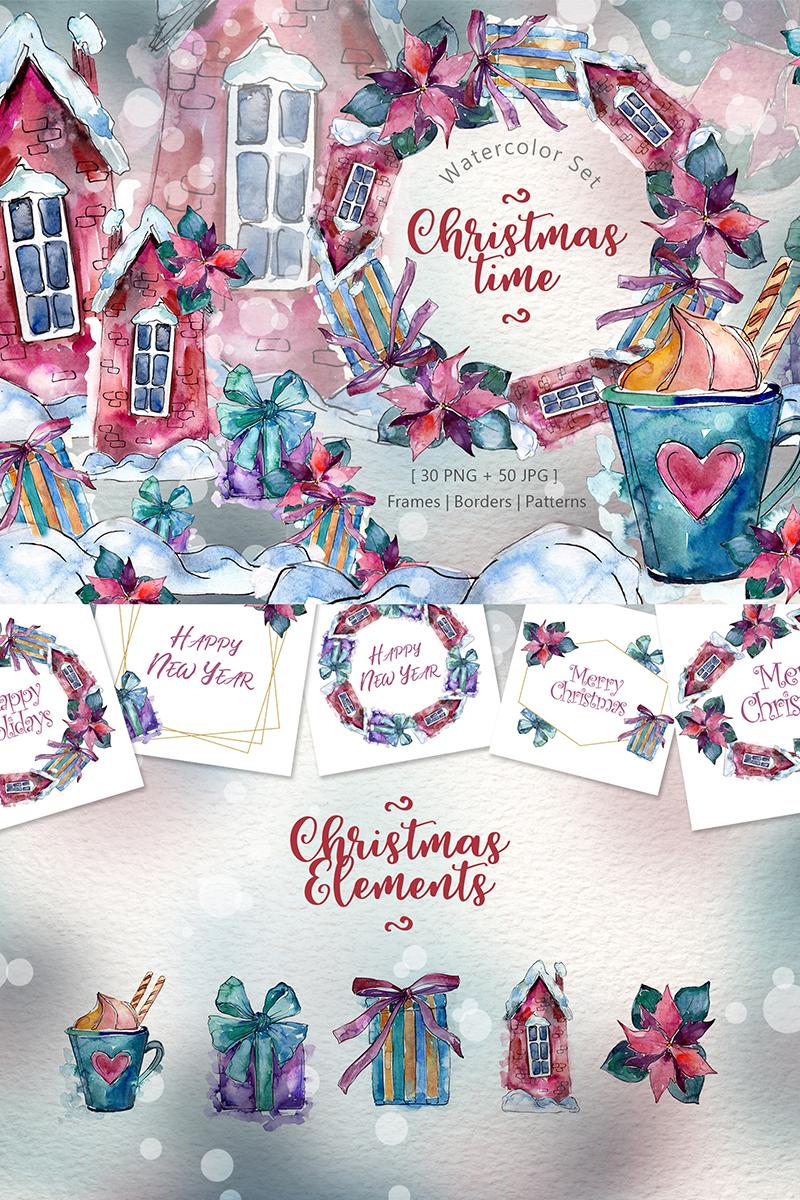 Christmas Time PNG Watercolor Set №72156 - скриншот