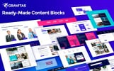 Gravitas Multipurpose Business Moto CMS 3 Template