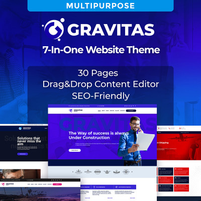 Gravitas Multipurpose Business Moto CMS 3 Template #72222