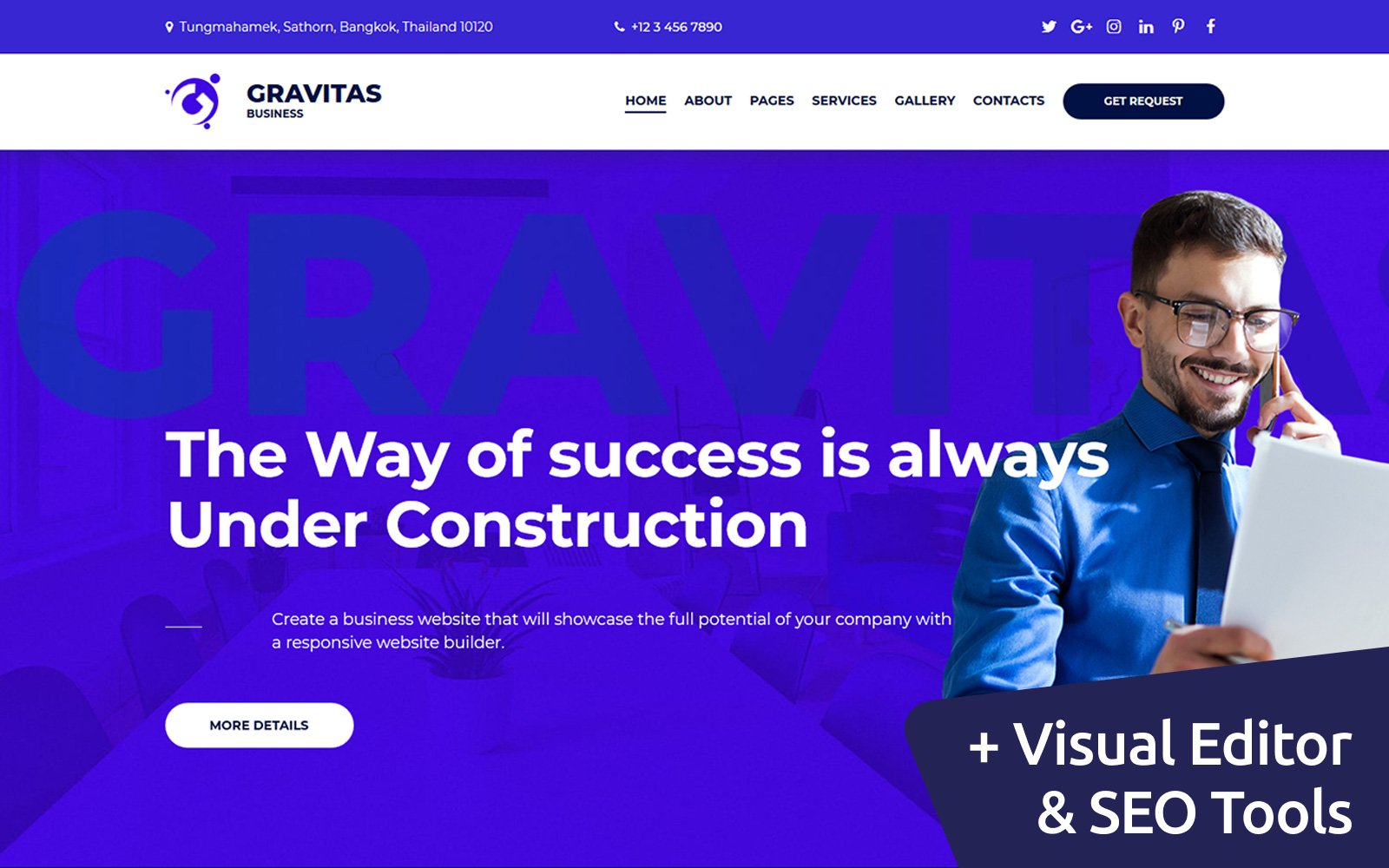 Responsive Gravitas Multipurpose Business Moto Cms 3 #72222