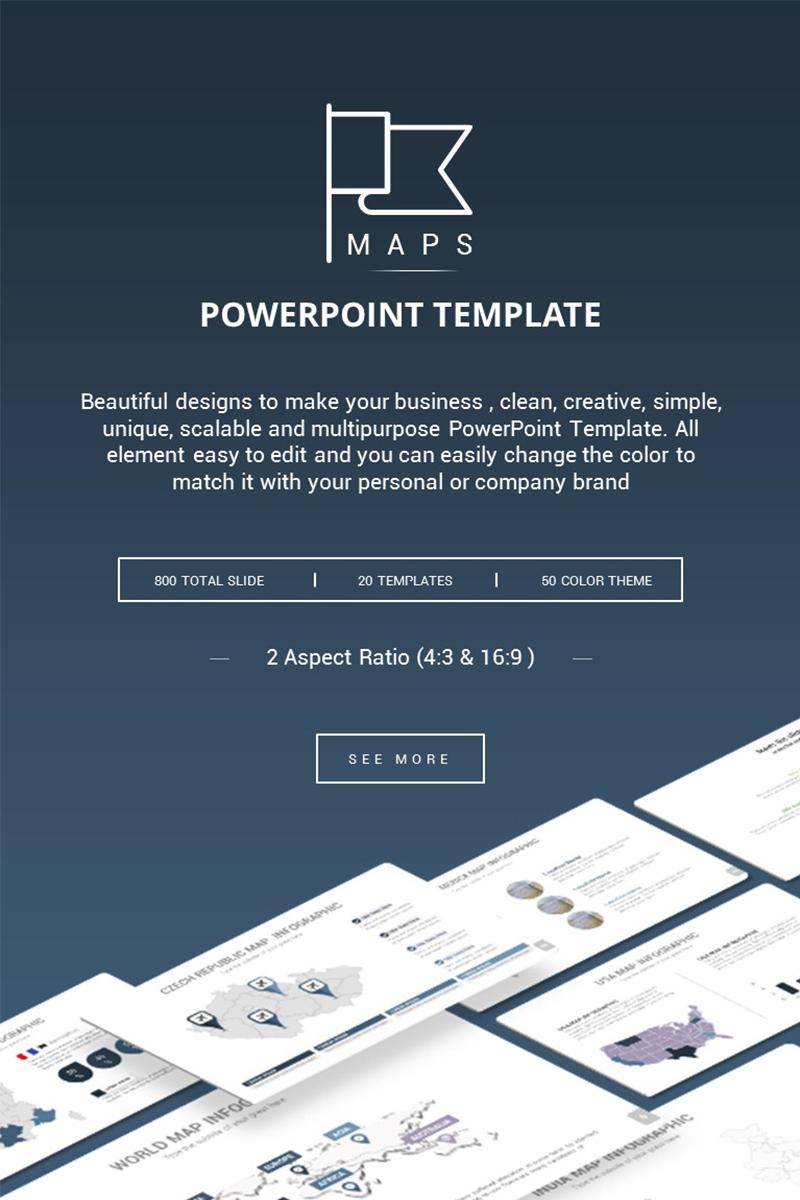 """PowerPoint šablona """"Maps Presentation"""" #73219"""