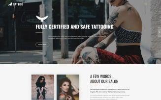 Tattoo - Beauty Salon HTML5 Landing Page Template