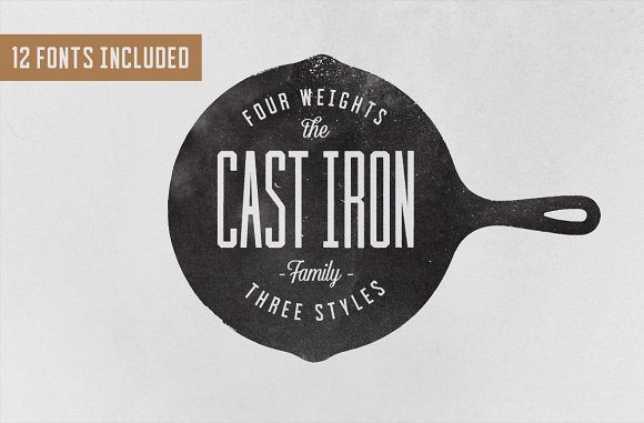 """Template Font #73258 """"Cast Iron Family"""""""
