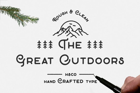 The Great Outdoors Font - screenshot