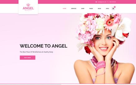 Angel - Beauty Salon Store WooCommerce WordPress Elementor Theme WordPress Theme