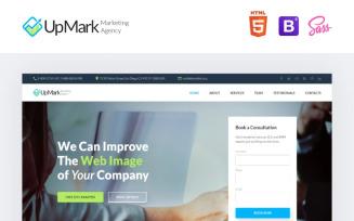 UpMark - Fancy Marketing Agency HTML Landing Page Template