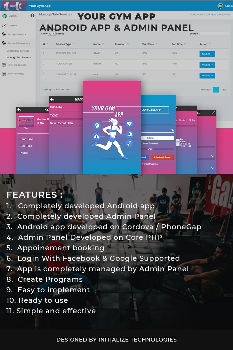 Website Design Template 73376 - mobile app android admin panel webservices api hybrid php cordova phonegap responsive