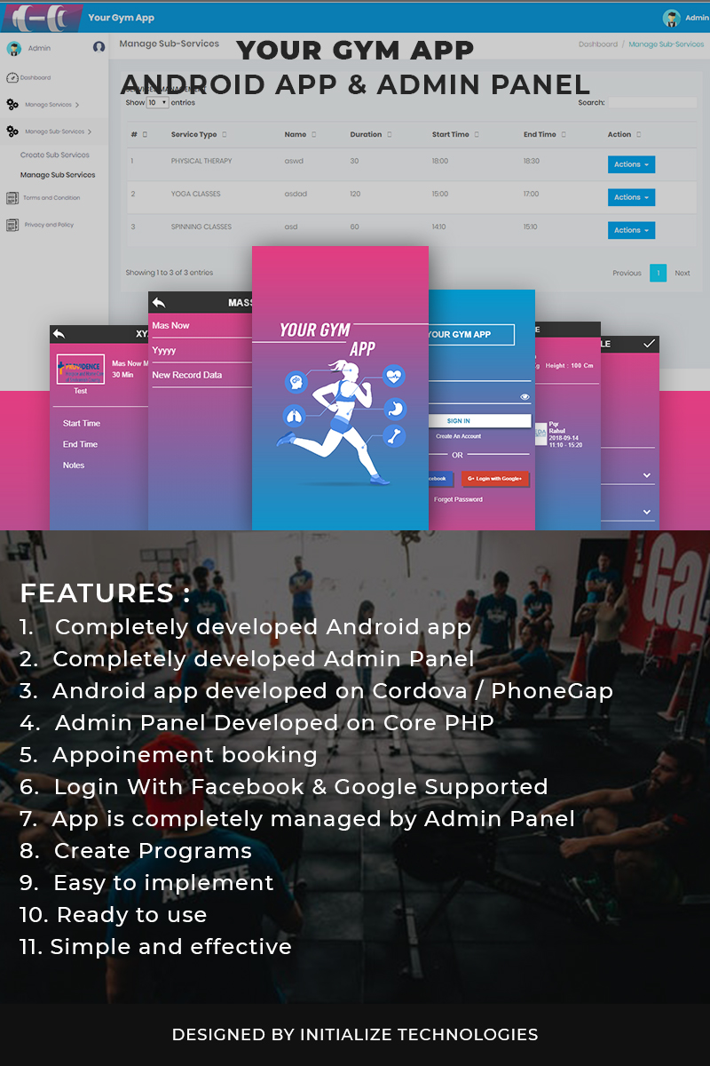 Website Design Template 73376 - fitness mobile app android admin panel webservices api hybrid php cordova phonegap responsive