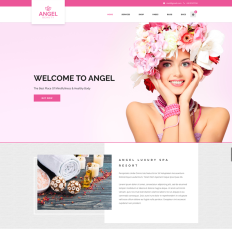 Angel Beauty Salon Woocommerce Elementor Responsive WordPress Theme