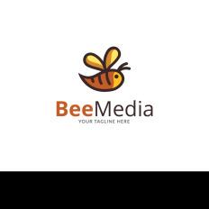 Logo templates templatemonster bee news brand logo template 73341 maxwellsz