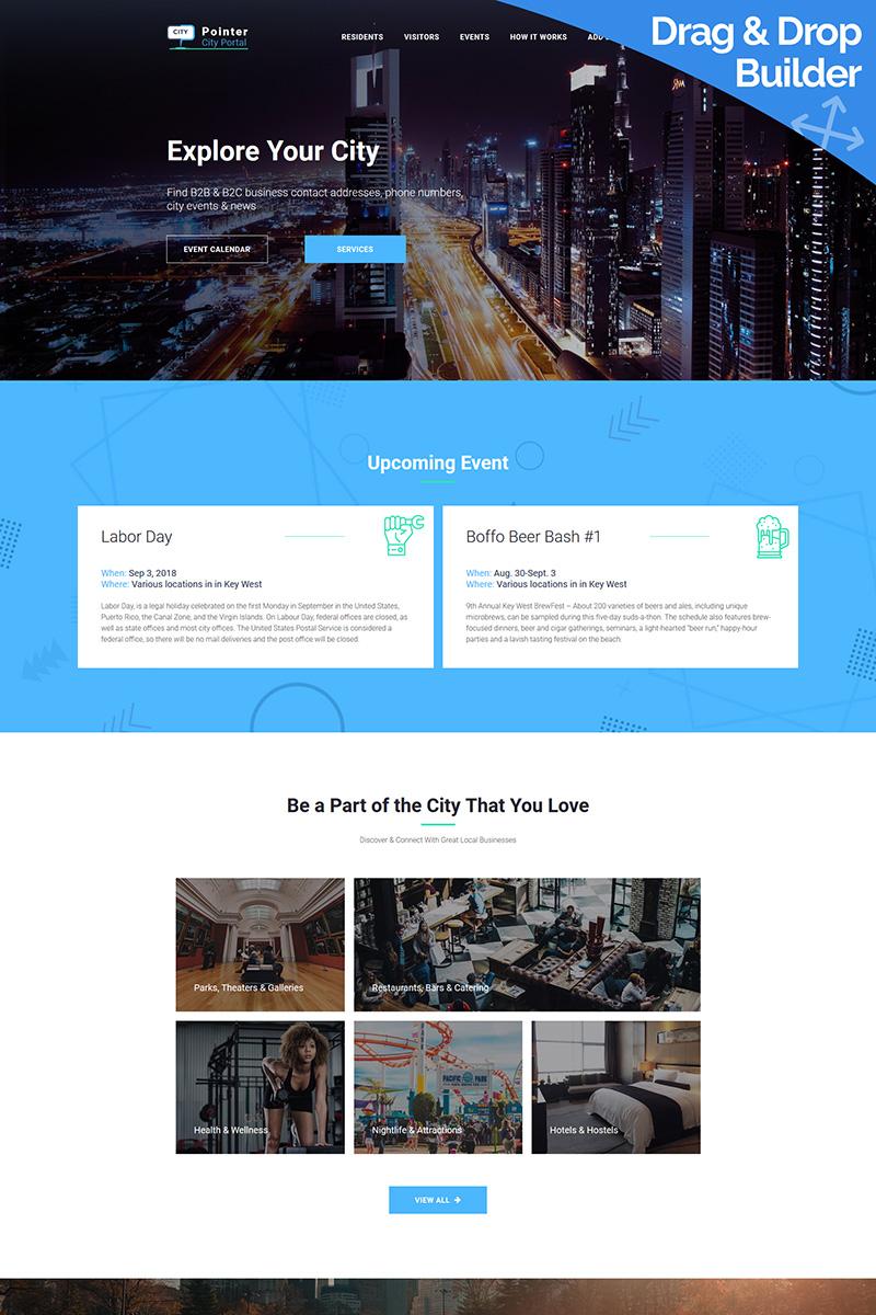 Responsive City Portal Premium Moto Cms 3 #73334