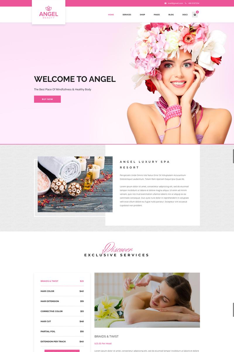 Responsywny motyw WordPress Angel - Beauty Salon Store WooCommerce Elementor #73332
