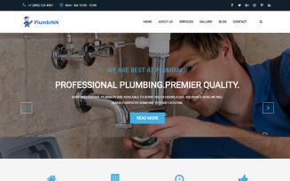 Plumbinn - Plumbing and Repairing HTML Template Landing Page Template