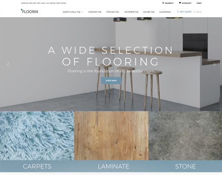 Floorix - Flooring Solutions Shopify Theme