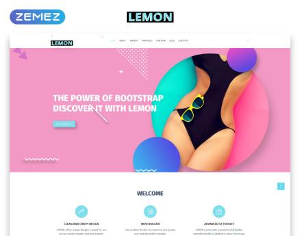 Lemon - Design Company Responsive HTML Website Template