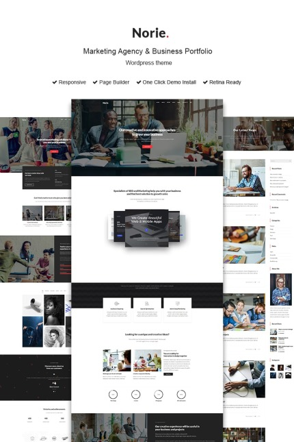 Website Design Template 73437 - corporate portfolio creative freelancer shop seo parallax responsive visual composer page builder slider unlimited colors