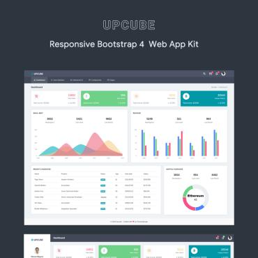 Preview image of Upcube - Responsive Web App Kit