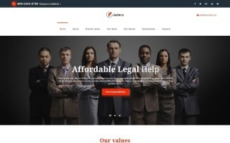 Justeco - Fancy Law Firm HTML Landing Page Template