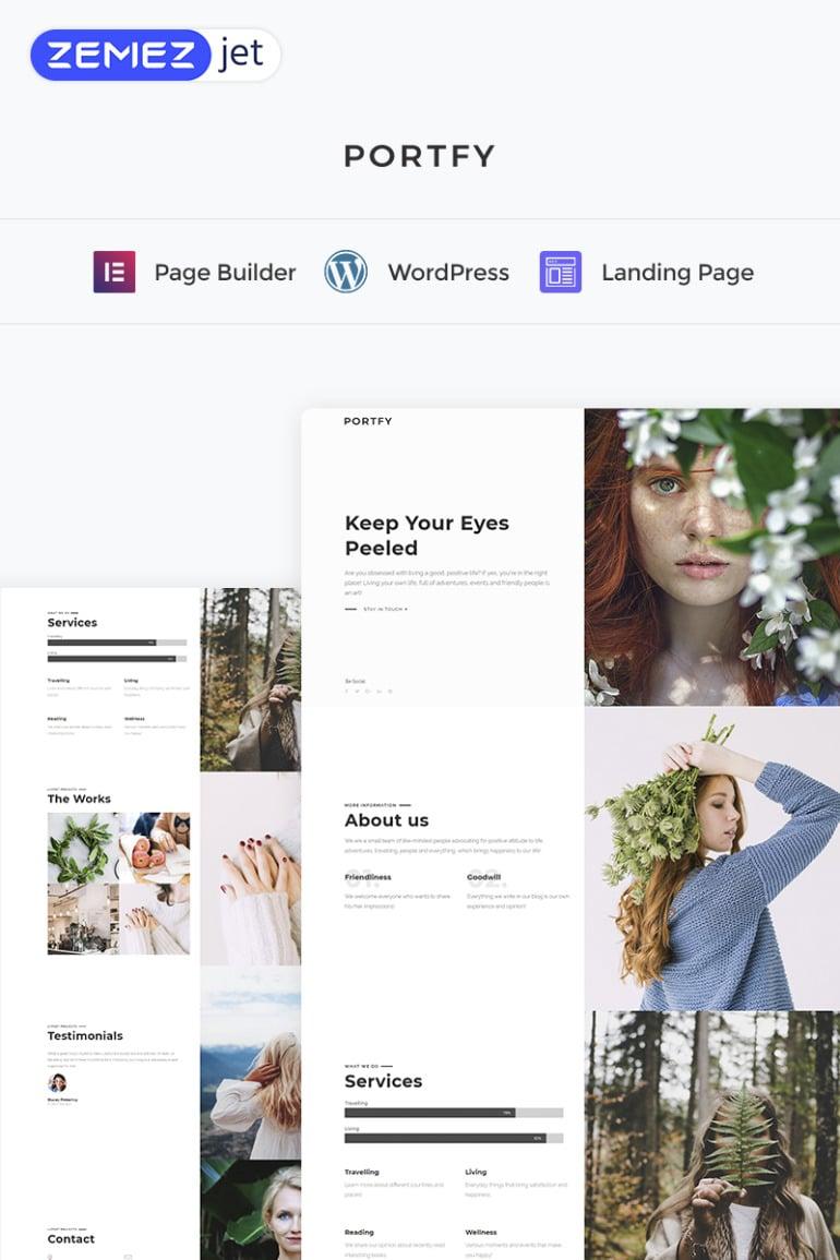Portfy - Creative Elementor WordPres Landing Page Template