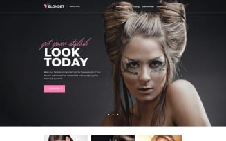 Blondet - Beauty Elementor WordPress Landing Page Template