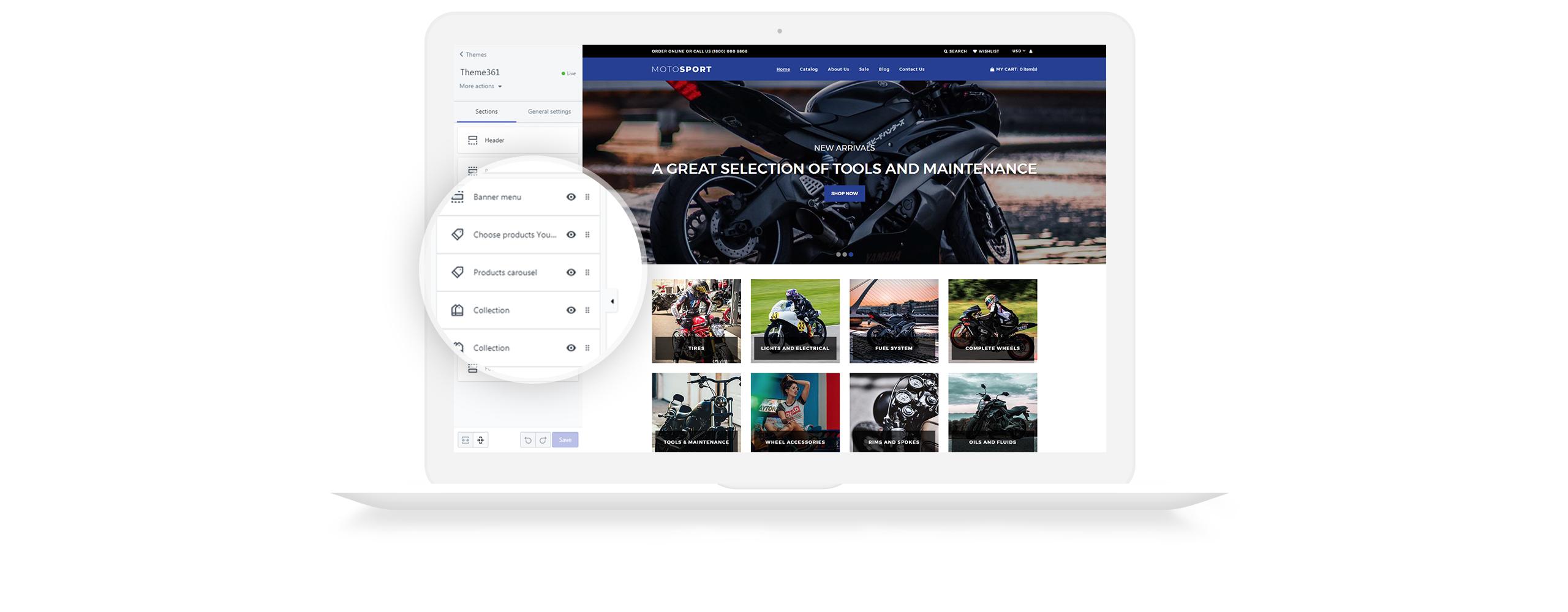 Website Design Template 73470 - shop shopify tires wheelsundefined