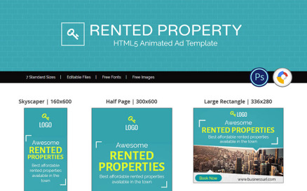 Real Estate   Rented Property Ad Animated Banner