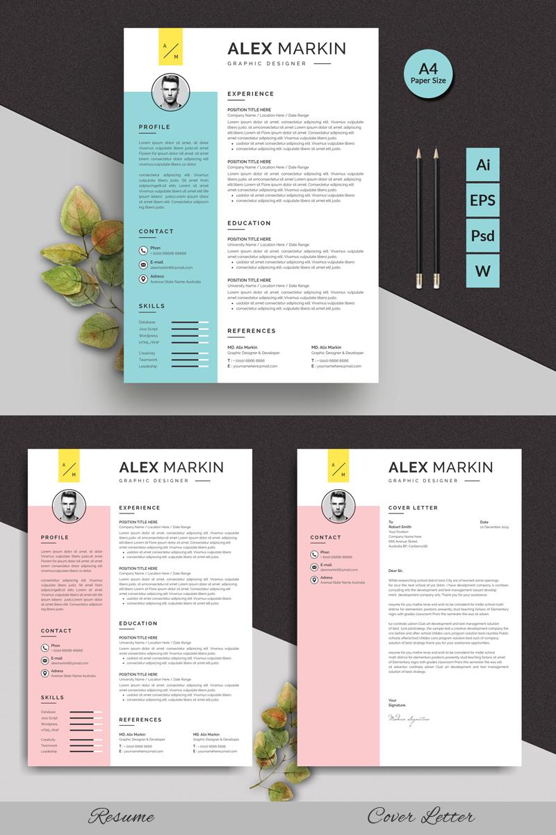 Alex Markin Modern Resume Template
