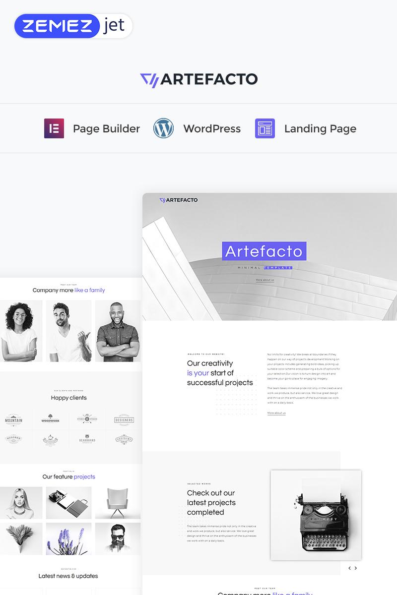 Artefacto - Business Elementor WordPres Landing Page Template