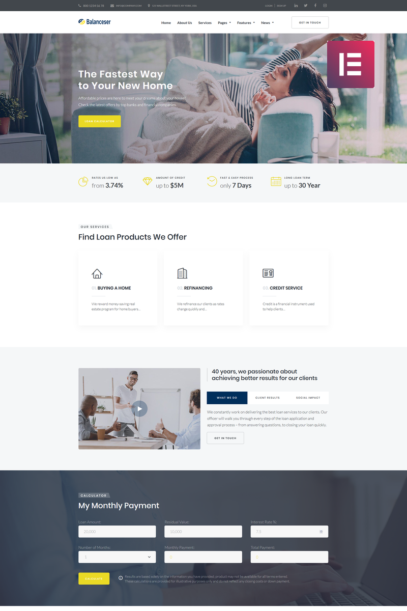 Balanceser - Financial Services Elementor WordPress Theme