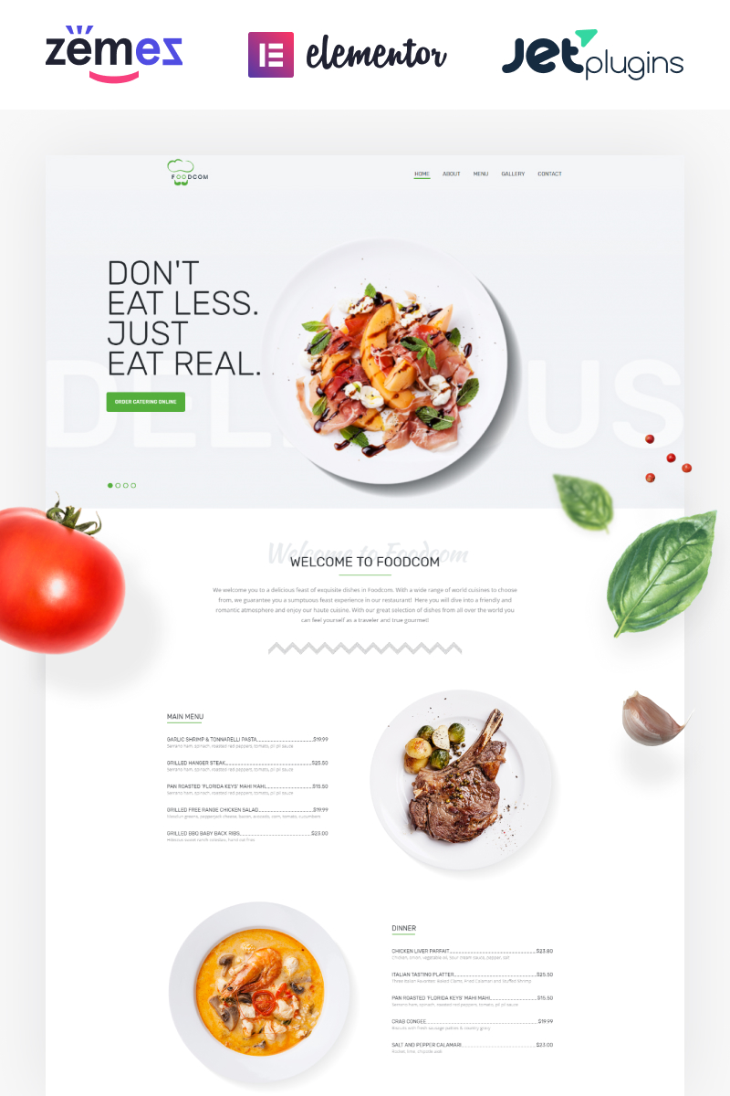 """Foodcom - Restaurant Elementor"" thème WordPress adaptatif #73453"