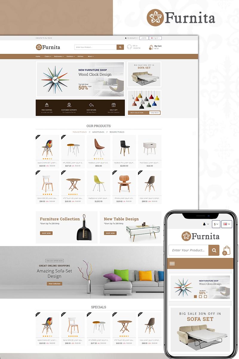 Furnita - Furniture Store OpenCart Template - screenshot