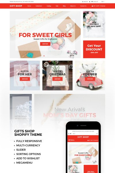 Gift Shop Shopify Theme #73425