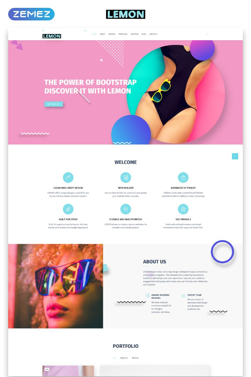 Lemon - Design Company Responsive HTML Template Web №73433 - captura de tela